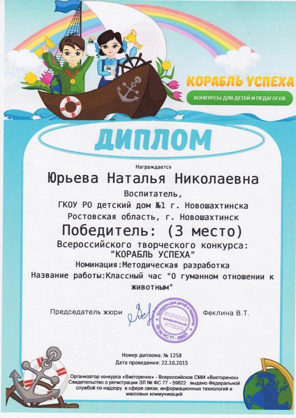 Участие в конкурсы для детей в 2017 году